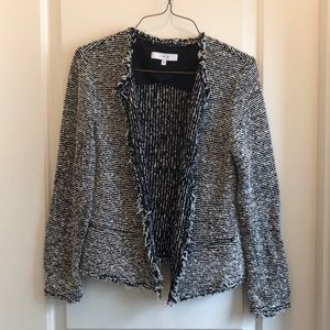 Casual black and white jacket